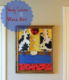 wall art from woody costume for new Toy Story room #disneypaintmom