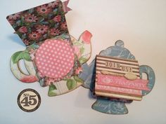 Send adorable invitations for your next tea party! By: Denise Johnson using Botanical Tea #graphic45