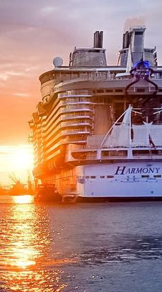 Harmony of the Seas | This incredible vessel measures 1,188 feet long and weighs in at 227,000 GRT and 85,000 lightweight tons. In context, if stood up next to the Eiffel Tower, Harmony of the Seas would be bigger.