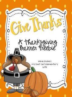 Freebie: Thanksgiving Banner