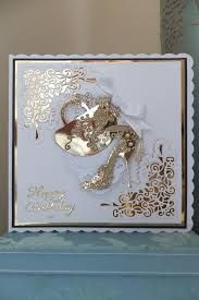 cards made with tattered lace shoe die Tattered Lace Cards, Birthday Cards For Women, Anniversary Cards, Wedding Anniversary, Pretty Cards, Copics, Scrapbook Cards, Scrapbooking, Paper Cards