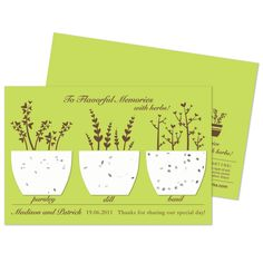 Plantable Flavorful Memories Herb Favor