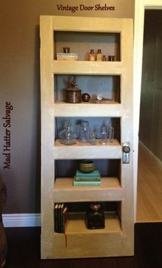 Authentic Vintage Schoolhouse Door Shelving by MadHatterSalvage, $500.00