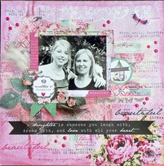 """<p>Hello everyone, Pam here: I had a lot of fun making this layout with the 'Oh So Lovely' collection from Kaisercrafts. The photo is of me and my daughter on Prom night. It's hard to believe this was 5 years ago…time goes by too quickly. So I'll take you through <a href="""" http://www.merlyimpressions.co.uk/blog/project-portfolio/scrapbooking/mixed-media-layout/ """"> …click to read more</a></p>"""