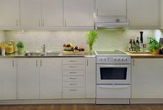 Simple Minimalist White Kitchen Design Photo Source by elizabethlinnea Simple Outdoor Kitchen, Simple Kitchen Design, Kitchen Furniture, Kitchen Interior, Kitchen Decor, Bedroom Furniture, Home Design, Small Apartment Design, Studio Apartment
