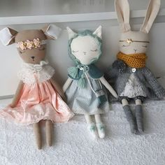 These three sweeties found a new home!!! On the way to meet their new friends. Thank you!❤ #handmade #textiledoll #heirloomdoll #bunnydoll #softtoy #knitting #bunny #dollmaker #dolldress #handmadedolls #giftforgirls #mint #deer #fawndoll #lovehandmade #nursery #kids #babynursery #mum #sewing #shopsmall #handmadewithlove