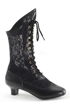 Vegan victorian boots
