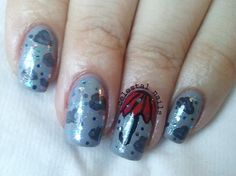 Rainy Day nail art. Please head on over to my blog and check it out.