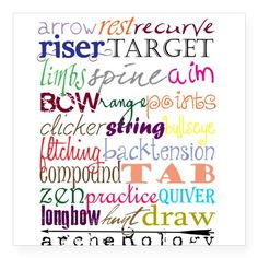 Archerology Elements Sticker