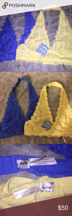 Free People Brallettes Free people Brallette Bundle. Both new. Will consider selling separately. Removed tag on one. Free People Intimates & Sleepwear