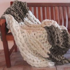 Winter is coming, stay warm is this cozy knit merino wool blanket