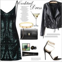 Cocktail Dress by mycherryblossom on Polyvore featuring Gianvito Rossi, Salvatore Ferragamo, Cartier, Yves Saint Laurent, Gucci and Eva Solo