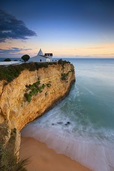 The chapel at the beach, Algarve, Portugal.