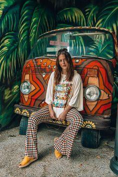 hippie outfits for school ; hippie outfits for school spirit week ; 70s Outfits, Outfits Damen, Boho Outfits, Vintage Outfits, Cute Hippie Outfits, Concert Outfits, Fashion Outfits, Nice Outfits, Festival Outfits