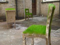sculpture by Kevin Huntthat playfully imagines a literal take on garden furniture.