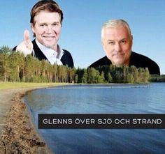 Glenns över sjö och strand