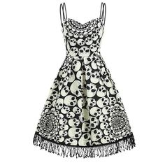 Women Skull Printed O Neck Knee-Length A Line Dress – Everything Skull Clothing Merchandise and Accessories Robe Swing, Swing Dress, White Spaghetti Strap Dress, Rockabilly, Long Evening Gowns, Evening Party, Halloween Dress, Skull Print, Cheap Dresses