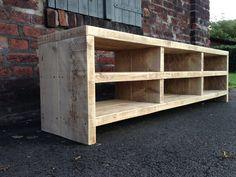 Bauholz Sideboard / Lowboard von Linnards - handgearbeitete Bauholzmöbel auf DaWanda.com