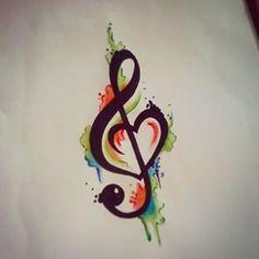 treble clef bird tattoo - Google Search                                                                                                                                                     More