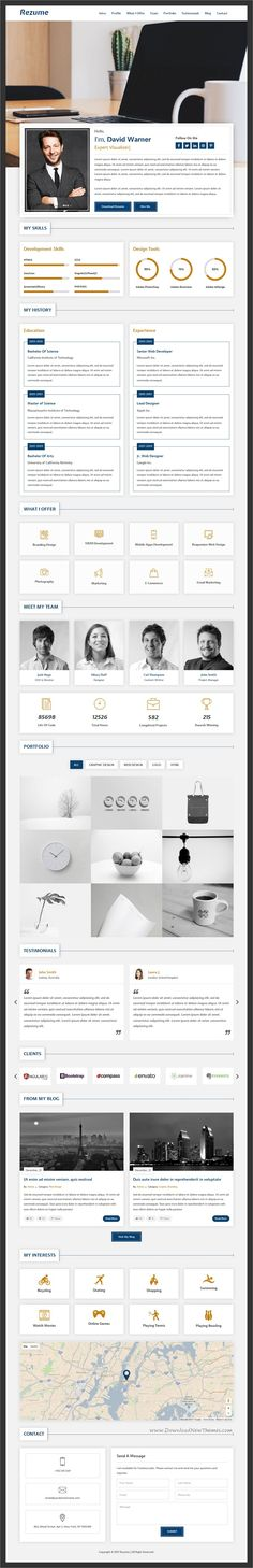 CVitae - Responsive Materialized Resume Download, Template and Words - resume portfolio template
