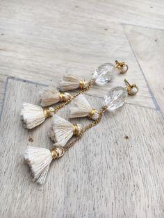 ZOE || VINTAGE SWAROVSKI CRYSTAL & TASSEL EARRINGS $80.00 Vintage Swarovski Crystal Handmade Mini Tassels Lightweight Approx. 3″ long