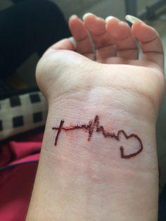 My faith hope love tatto by henna ink <3  Love it <3