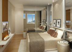 painel de tv para quarto de casal simples