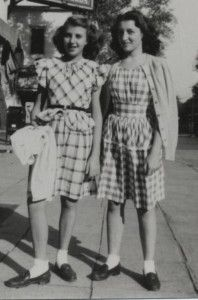 """1940s fashion...teen girls were obsessed with 'Ol Blue Eyes, Frank Sinatra.  They listened to jazz and swing and they developed their own sense of """"age group"""" style."""