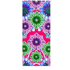"East Urban Home Magenta Floral 'Flower Power in Red' Graphic Art Print on Metal Size: 20"" H x 16"" W x 1"" D"