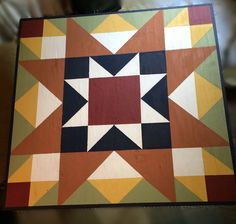 Just finished this 3'x3' barn quilt for my garden shed. Now to seal it and hang! 9-23-2016