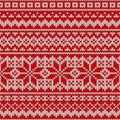 Nórdica padrão sem emenda sobre a textura de malha de lã — Vetor de Stock #56954971