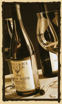"Thomas Arvid wine art, ""So Deserving"" limited edition print on paper at Art Leaders Gallery. Browse Thomas Arvid's complete collection online: artleaders.com 