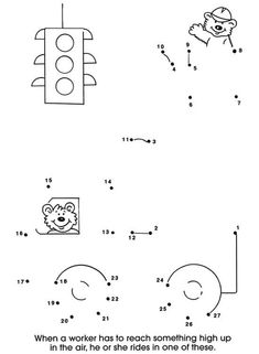 Cars and Trucks Dot-to-Dot Tracing Worksheets, Preschool Worksheets, Library Activities, Activities For Kids, Coloring For Kids, Coloring Pages, Dot To Dot Printables, Tracing Shapes, Kids Study