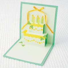 誕生日プレゼントに添えて♪かわいい二段ケーキのポップアップカードの作り方(メッセージカード) | ぬくもり