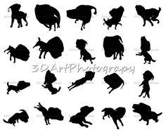Labrador Silhouettes Print Sticker image black dog Labrador