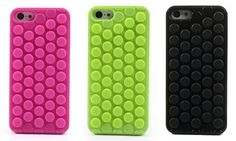 Bubble Pop silicone plastic hybrid cases for #iPhone5c, poking to get pop sound, novel & funny, 4 colors, $3.38/unit.