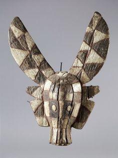 Gurunsi MASK Burkina Faso. H 50 cm.