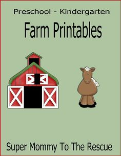 Free Kindergarten and Preschool Farm Printables