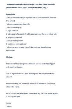 Nut Butter, Almond Butter, Magic Chocolate, Chocolate Fudge Brownies, Oat Flour, Cacao Powder, Vegan Baking, Nut Free, Baking Pans