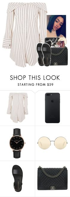 """Untitled #2192"" by toniiiiiiiiiiiiiii ❤ liked on Polyvore featuring Topshop, Victoria Beckham and Chanel"