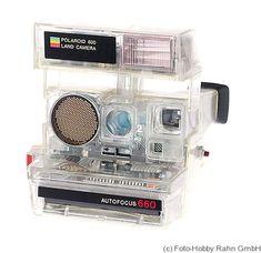 Polaroid: Polaroid 660 Transparent Price Guide: estimate a camera value Photo Polaroid, Vintage Polaroid Camera, Vintage Cameras, Instant Film Camera, Old Computers, Cool Tech, Retro Aesthetic, Retro Futurism, Funny Design