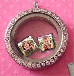 Personalized Square Photo Locket Charm - P2 Dream Lockets