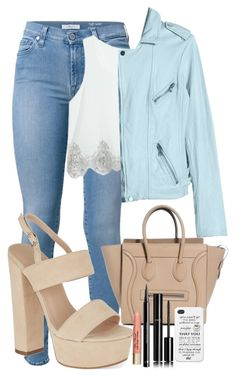 """Sin título #351"" by maria-landeros on Polyvore featuring moda, 7 For All Mankind, Rebecca Taylor, Carvela, Too Faced Cosmetics, H&M y Chanel"
