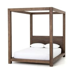 Shop contemporary shale grey Oak Wood King Size Platform Canopy beds for sale at Zin Home. the classic canopy frame delivers modern style from all angles. Canopy Bedroom, Furniture, Canopy Bed Frame, Bed, Luxury Bedding, Bedroom Furniture, Bed Frame, Canopy Beds For Sale, Bedding Sets