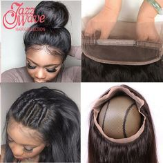 Top 360 Lace Frontal With Bundle Brazilian Straight Hair Lace Frontal Closure With Bundles Pre Plucked 360 Frontal With Bundles