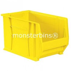 Akro-Mils 30282 from Monster Bins . Super Size AkroBin These Stacking Bins measure . 30282 Akro Bins are Available in Blue, Red or Yellow. Extra Storage Space, Storage Bins, Storage Containers, Storage Spaces, Storage Chest, Stacking Bins, Plastic Containers, Household Items, Getting Organized