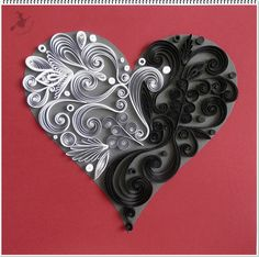 Fantázia szív a Yin - Yang jegyében.
