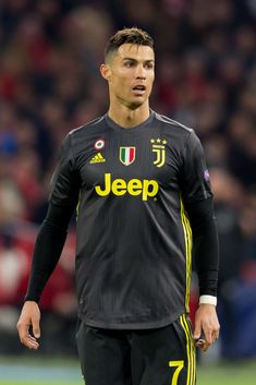 Christiano Ronaldo of Juventus looks on during the UEFA Champions. Cristiano Ronaldo 7, Ronaldo Free Kick, Sports Celebrities, All Star, April 10, Amsterdam Netherlands, Sports Stars, Uefa Champions League, Football Players