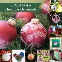 10 Mod Podge Christmas ornaments to make