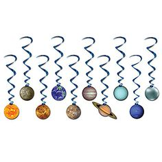 Solar System Danglers, Planets Ceiling Danglers, Solar System Hanging Decorations